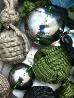 http://www.paracordist.com steel ball bearings for all your monkey fists #paracordist #paracord #preppers #survivalist