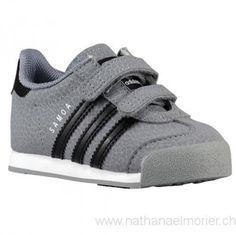 Kinder - adidas Originals Samoa Toddler Lässige Schuhe Grey/Schwarz/Weiß - Schuhe Größe:28,29,30,31,32,33,34,35