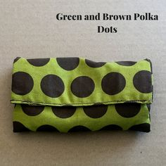 Bit Warmer Green and Brown Polka Dot by CounterCanterEq on Etsy