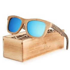 Polarized Square Wood Frame Sunglasses In Wooden Gift Box-Green,Blue,Yellow,Gray Mens Awesome women Design box case Eyewear for men outfit Shades Accessories summer Outlets website Beautiful unique inspiration products shops store link Gift ideas for him Wooden Gift Boxes, Wooden Gifts, Handmade Wooden, Wooden Sunglasses, Mirrored Sunglasses, Blue Yellow Grey, Gray, Polaroid Frame, Green Gifts