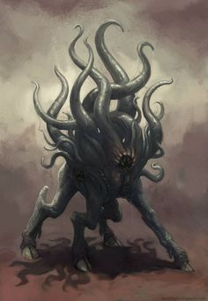 Dark Young of Shub-Niggurath [by daviblight, via Newgrounds]