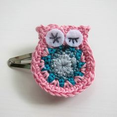 * Inspiration Only.  Crochet Owl Hairclip - gorgeous! - by lolliandbean on madeit
