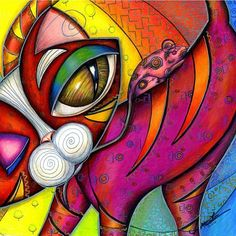 color pencil drawings   Favorite art of Christina A Kapono Currently viewing Red Woven Kitty ...