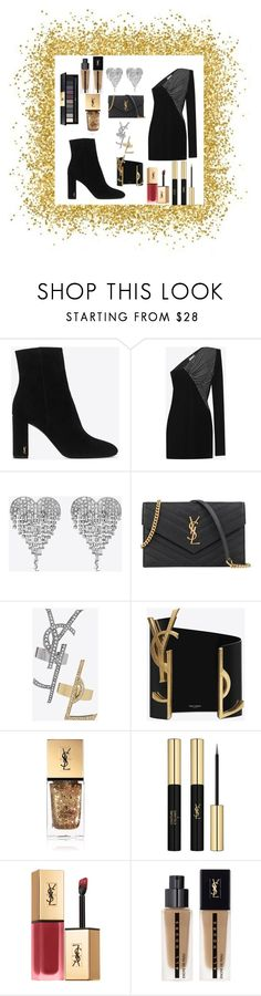 """""""YSL"""" by cecilvenekamp ❤ liked on Polyvore featuring Yves Saint Laurent, Hedi Slimane and cassiecronk"""