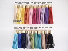 20 pcs set Large Synthetic suede leather tassel golden by amakeit #tassels #fabric tassels