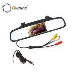 Owince Car Rearview Mirror Monitor for Backup Reverse Camera TFT LCD Color Parking Assistance Rear View Camera Car Styling