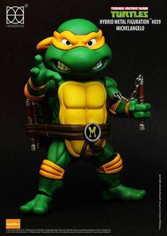Herocross - Hybrid Metal Figuration - Teenage Mutant Ninja Turtles - Michelangelo