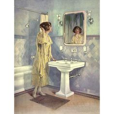 House & Garden magazine July 1922 (from Standard Sanitary Ware Ad) Canvas Art - Unknown (18 x 24)