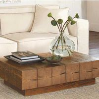 Chunky Timber Coffee Table - VivaTerra