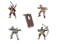The Papo Archers Deluxe Gift Set is a top of the range super saver for anyone looking to enhance their collection of Papo knights or medieval playset. These archers can be added to any wooden toy castle including the full range from Le Toy Van. Papo Archers Set - 4 Archers and Standing Shield included. Most figures can also ride the horses in the Papo range of Knights if required.