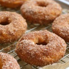Baked Pumpkin Donuts (A Bitchin' Kitchen) Baked Pumpkin, Pumpkin Recipes, Fall Recipes, Sweet Recipes, Holiday Recipes, Beignets, Donut Recipes, Cooking Recipes, Cooking Ideas