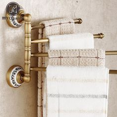 Best Price Wholesale and Retail Antique Barss Bathroom Flexible Towel Bar Wall Mounted Towel Shelf Hooks Shelf Hooks, Towel Shelf, Storage Hooks, Towel Hooks, Towel Holder, Smart Storage, Bathroom Shelves For Towels, Towel Rack Bathroom, Brass Bathroom