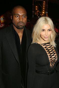 Pin for Later: Kim Kardashian und Katy Perry bringen die Front Row zum Lachen Kanye West und Kim Kardashian