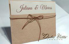 Convite de Casamento Rústico cod. 258 - Dolce Vitta Convites
