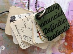charm made from old books