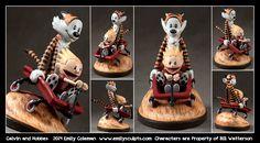 Commission : Calvin and Hobbes by emilySculpts.deviantart.com on @DeviantArt