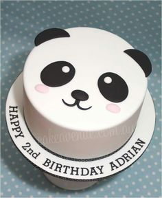 A cute Panda Birthday Cake baked with love for my daughters birthday Pretty Cakes, Cute Cakes, Panda Birthday Cake, Birthday Cakes, Birthday Recipes, 13th Birthday, Bolo Panda, Panda Cakes, Creative Cakes