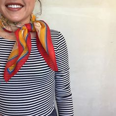 Netherlands Silk Kerchief #Anthropologie #MyAnthroPhoto