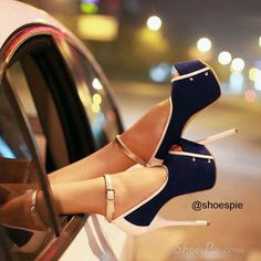 Stilettos Platform Slim High Heel Shoes Ankle Straps Sandals on Chiq Hot High Heels, Platform High Heels, Sexy Heels, Classy Heels, Dream Shoes, Crazy Shoes, Cute Shoes, Me Too Shoes, Fab Shoes
