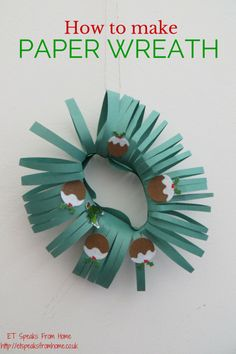 Christmas is coming thick and fast and I have a few crafts that I would love to share with you. Read here how to make paper wreath,