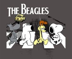 The Beagles - Porkchop, Brian, Odie and Snoopy...(ummm they are def not all Beagles lol...I only know for sure Snoopy is)