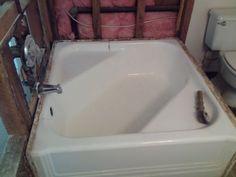 Square Tub vintage cinderella corner cast iron bath tub - hard-to-find | bath