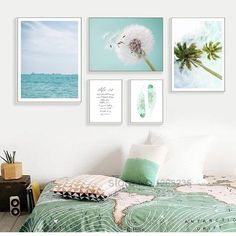 Blue Seawater Posters And Prints Dandelion Coconut Nordic Poster Wall Picture Canvas Art Wall Pictures For Living Room Unframed Living Room Canvas Art, Nursery Canvas, Canvas Wall Decor, Wall Art Decor, Living Room Decor, Bedroom Decor, Dining Room, Living Room Pictures, Wall Pictures