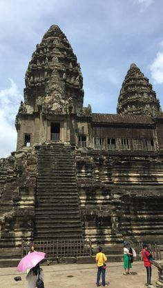 Finally witnessed Angkor Wat in Siem Reap, Cambodia. It was stunning. Places Around The World, Around The Worlds, Cambodia Beaches, Beautiful Library, Historical Monuments, Siem Reap, Angkor Wat, Ancient Architecture, Travel Goals