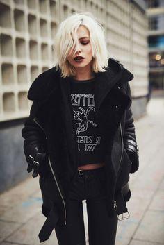 Masha Sedgwick #rock #black #outfit