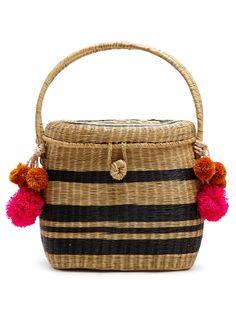 2b808612f4 Sophie Anderson Cinto striped wicker basket bag