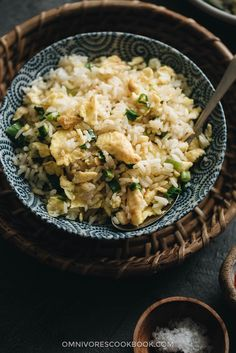 3-Ingredient Egg Fried Rice (蛋炒饭) - The easiest egg fried rice that you can prep and cook in 10 minutes, and it tastes better than the restaurant version.