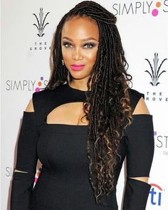 Tyra in faux locs