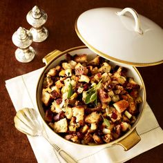 Savory Bread Stuffing with Pears