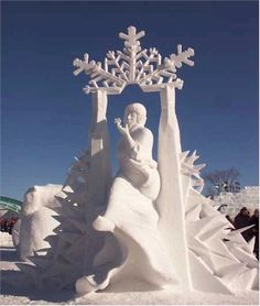 Canadian snow sculpture placed first