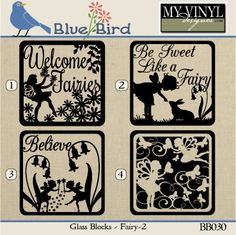 DIGITAL DOWNLOAD ... Glass Block vectors in AI, EPS, GSD, & SVG formats @ My Vinyl Designer #myvinyldesigner #bluebird