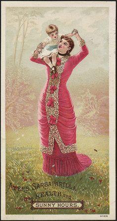 Ayer's Sarsaparilla gives health and sunny hours. (front) trade card.