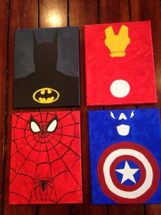 Superhero canvases!!!