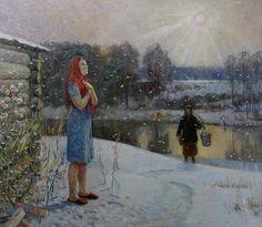 Александр Семенович Усватов (род. 1926) Первый снег.