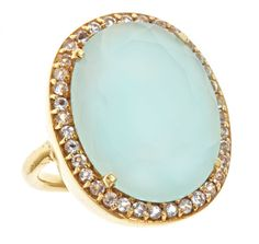 ophelia cocktail ring in aqua chalcedony