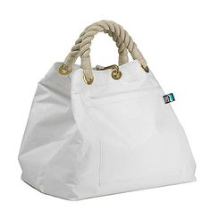PALMARIA BAG white in sail canvas made in Liguria, Italy buy on line www.cabbdesign.com
