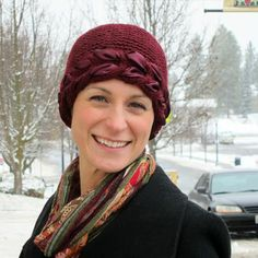 Holiday Ribbon Beanie. Festive hat for cancer patients. Makes a wonderful gift for cancer patients.