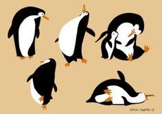 simple yet so expressive (Borja Montoro Character Design: Penguins)