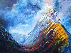 Mountain Peak- Original Oil Painting  By Helen Blair
