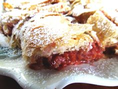 Hungarian Sour Cherry Strudel.