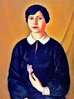 Antonio Donghi, Signorina : 1927 on ArtStack #antonio-donghi #art