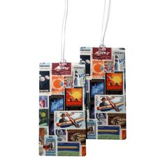 Flying Stamps Luggage Bag Tag Set - 2 pc, Large by 11:11 Enterprises 11:11 http://www.amazon.com/dp/B00KJUDFH6/ref=cm_sw_r_pi_dp_BLVQvb1T3ZG88