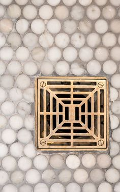 The Art of Choosing the Best Shower Drain - At the core of every great shower design is a great shower drain. Drains do more than look pretty — the good ones can deliver on both style and function. But, how do you choose the best shower drains for you? Shower Fixtures, Brass Bathroom Fixtures, Bathroom Hardware, Gold Hardware, Haus Am See, Penny Tile, Shower Drain, Shower Floor, Bath Shower