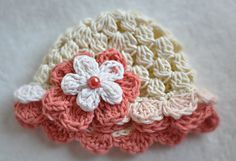 SpringEaster  Baby Girl Hat with Flower 100 by treslittlekings, $22.00