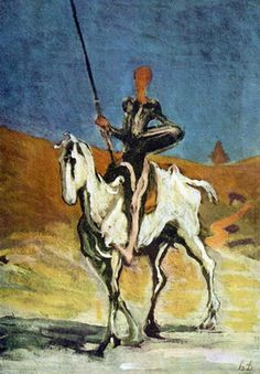 Honoré Daumier, Don Quichotte, c1865-1870