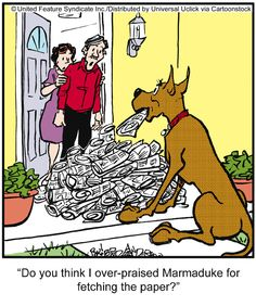 Marmaduke One of the most powerful forms of human communication is praise. We all need to be praised whether it's at school, work or with our family and friends. Praise works wonders for our self-esteem and can dramatically increase our performance. Remember when you were a child learning to read or ride a bike? Did your parents' encouragement and words of praise  bolster your confidence making you want to try harder? In your professional lives, how often have you longed for your line…